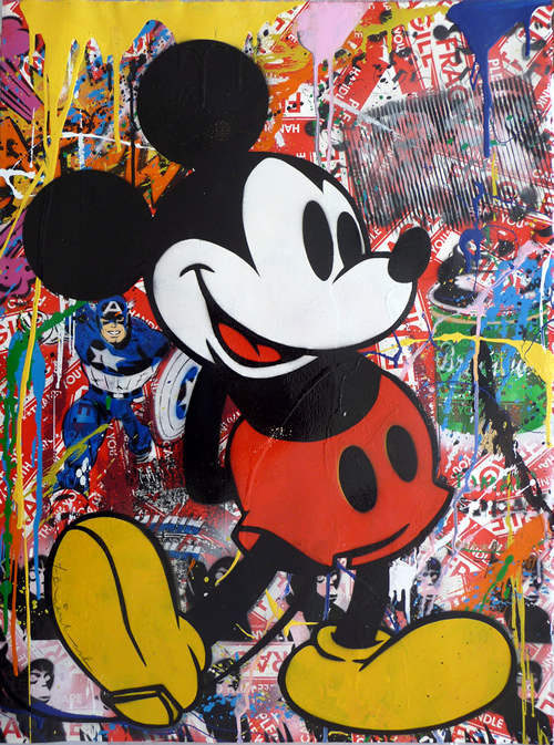 Mr - Brainwash - Mickey - Mouse - Oil - Painting - Sale