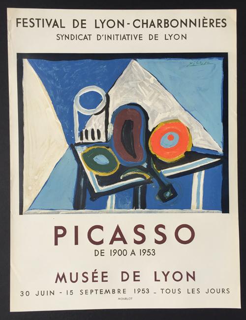 Picasso Poster Festival de Lyon Charbonnieres
