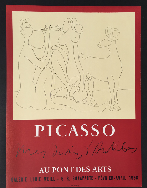 Picasso Poster Mes Dessins Antibes