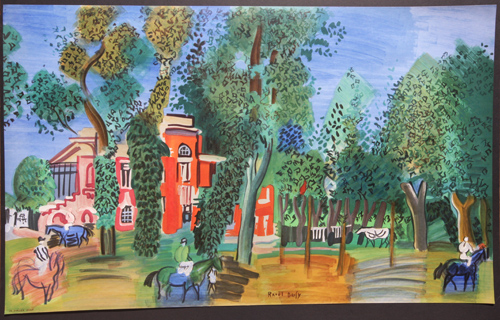 Raoul Dufy Paddock a Deauville Lithograph