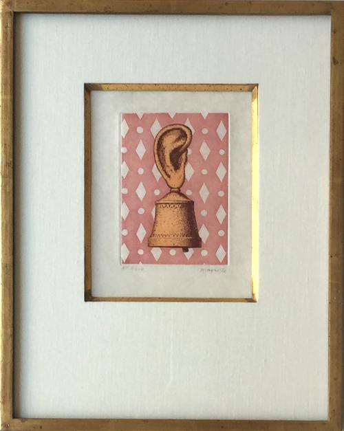 Rene Magritte La Lecon de Musique Framed
