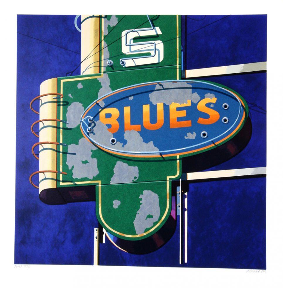 Robert Cottingham Blues American Signs