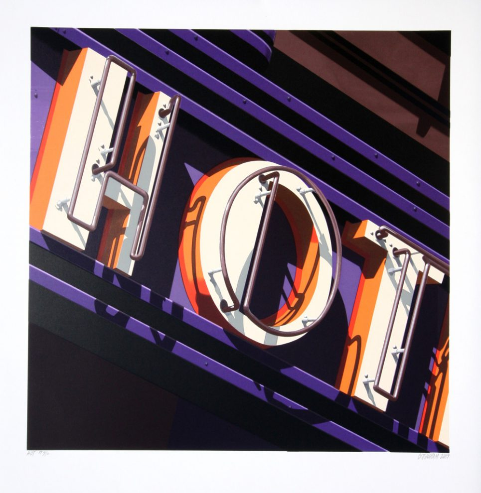 Robert Cottingham Hot Sign