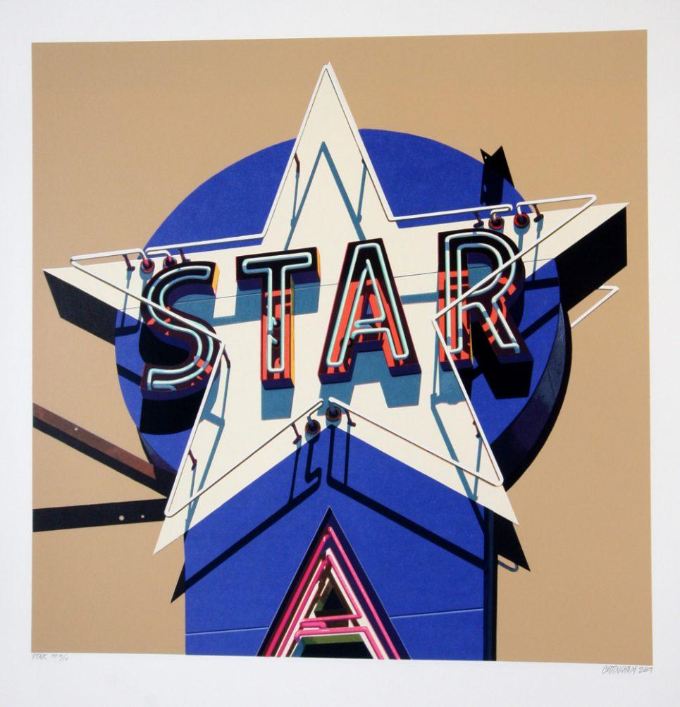 Robert Cottingham Star Screenprint