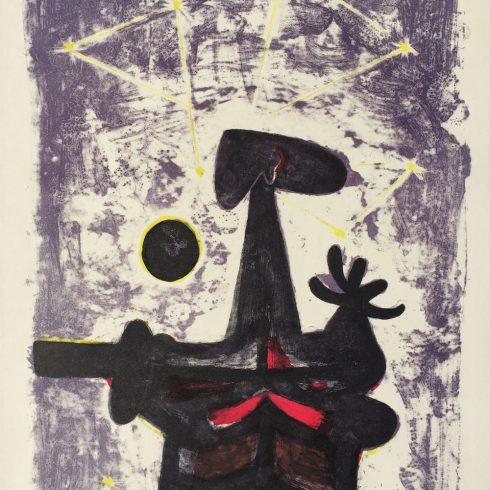 Rufino Tamayo - Hombre, Luna y Estrellas