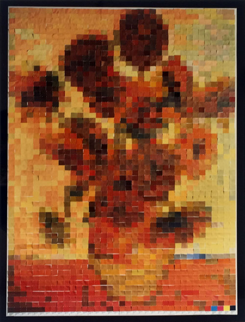 Vik Muniz Sunflowers Photograph