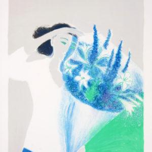 Andre Brasilier - Le Bouquet Bleu