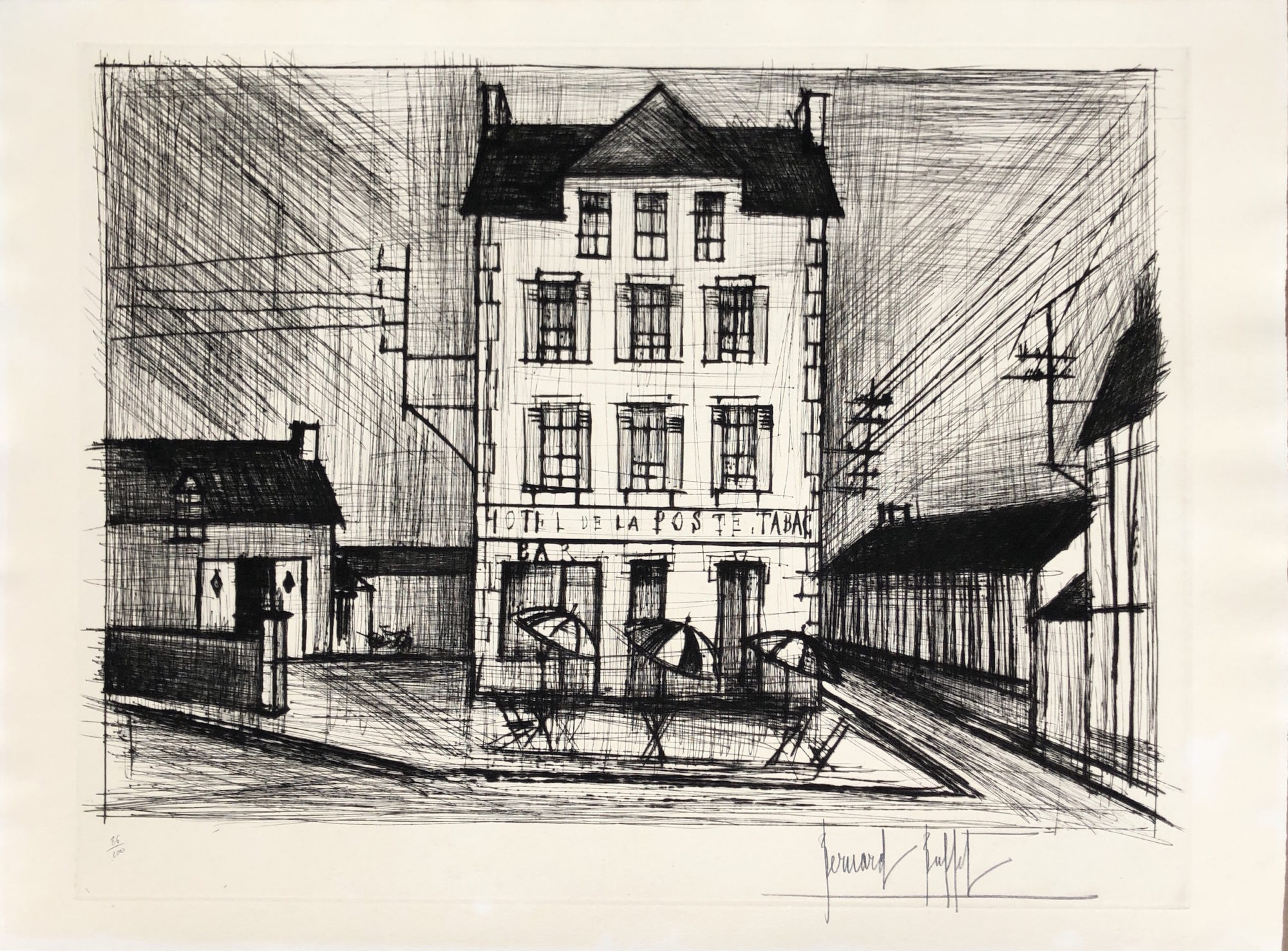 Tremendous Bernard Buffet Hotel De La Poste 1965 Denis Bloch Fine Home Interior And Landscaping Palasignezvosmurscom