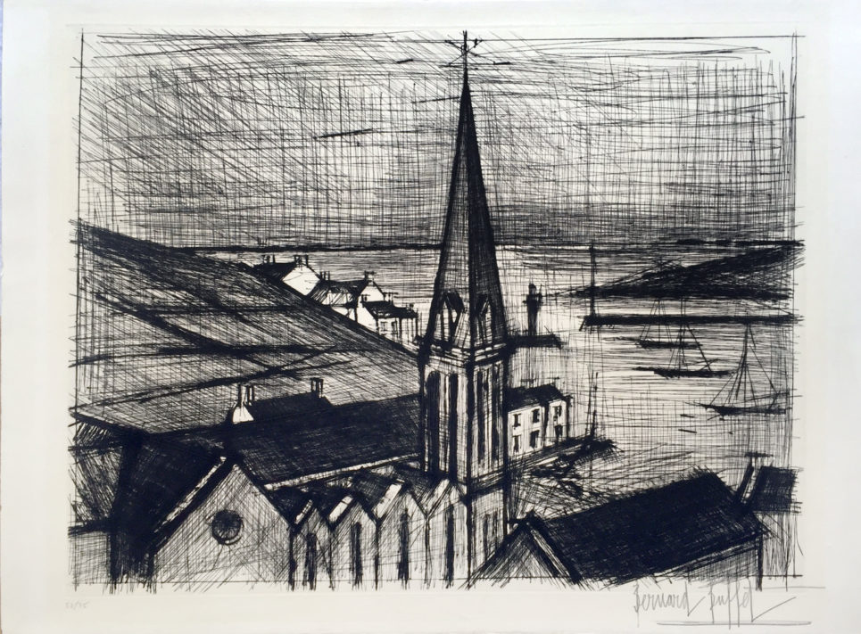 bernard buffet - le clocher de sauzon