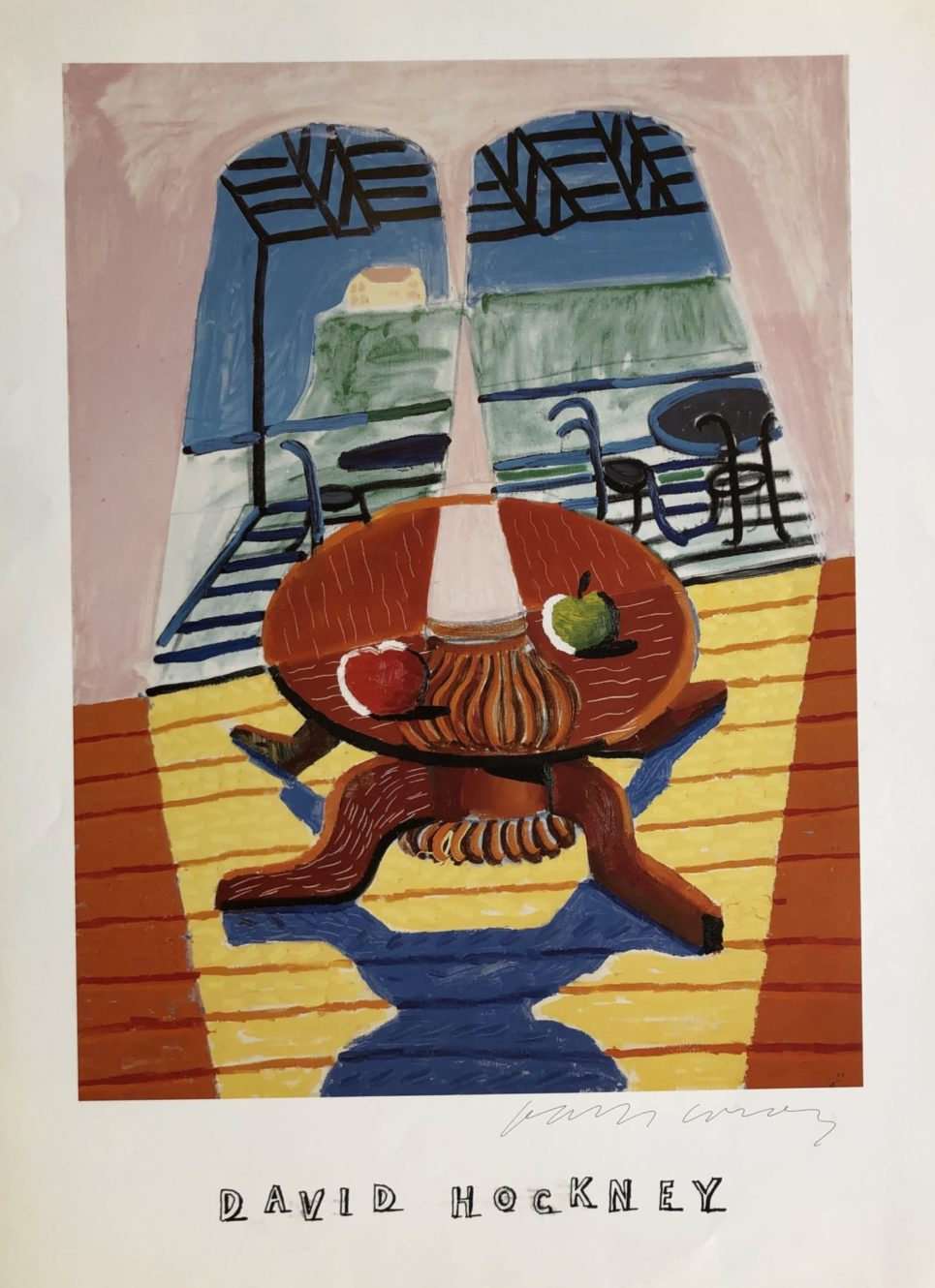 David Hockney - Christopher and Don's Dining Room