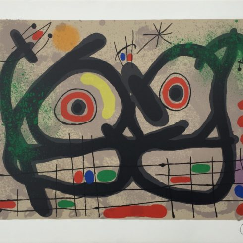 Joan Miro - Lezard aux plumes d'or (M. 447) - Signed
