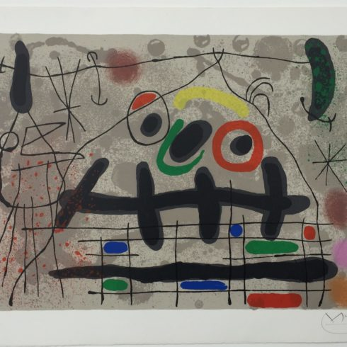 Joan Miro - Lezard aux plumes d'or (M. 461) Signed