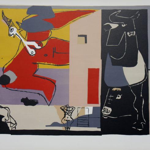 Le Corbusier - Femme Unicorne et Taureau Noir