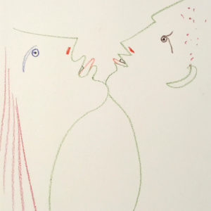 Jean Cocteau Man and Woman Chin-to-Chin
