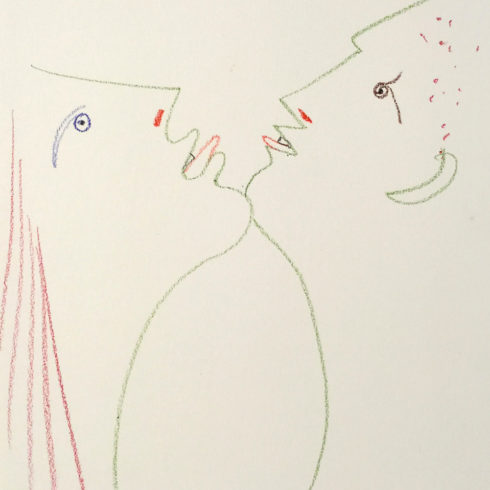 Jean Cocteau - Man and Woman Chin-to-Chin