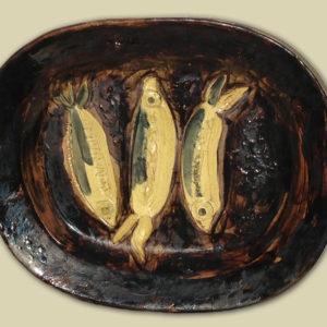 Pablo Picasso Three Sardines Ceramic