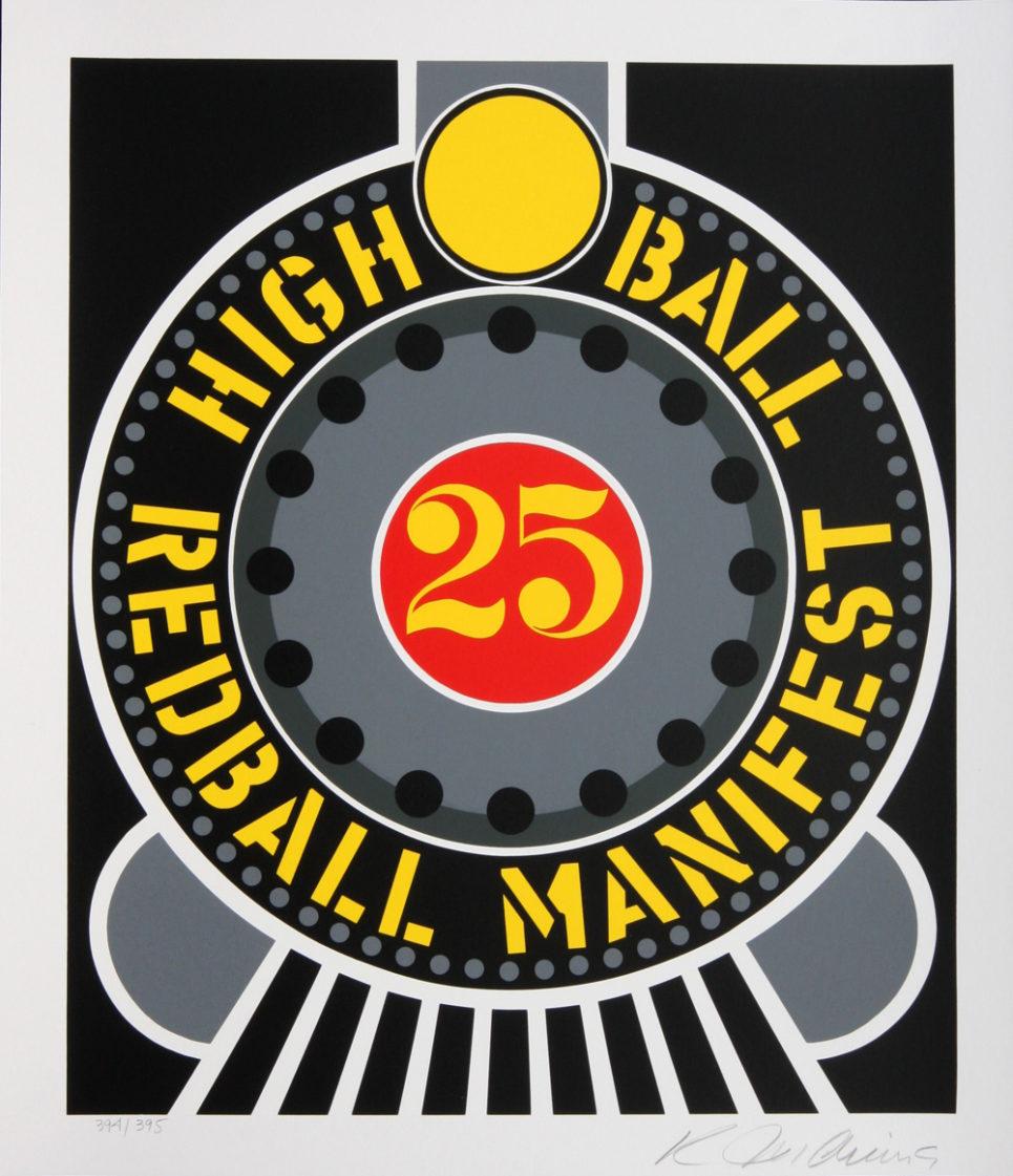 high ball on redball manifest by robert indiana