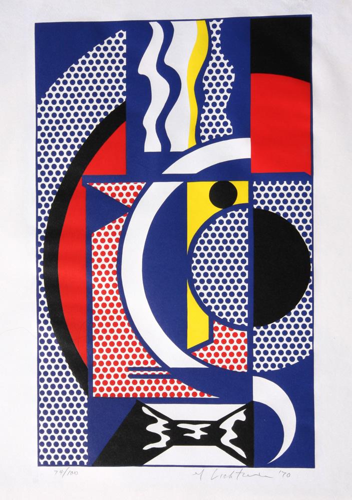 modern head #1 by roy lichtenstein