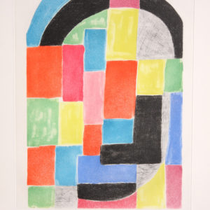 Sonia Delaunay Composition with Black Arc
