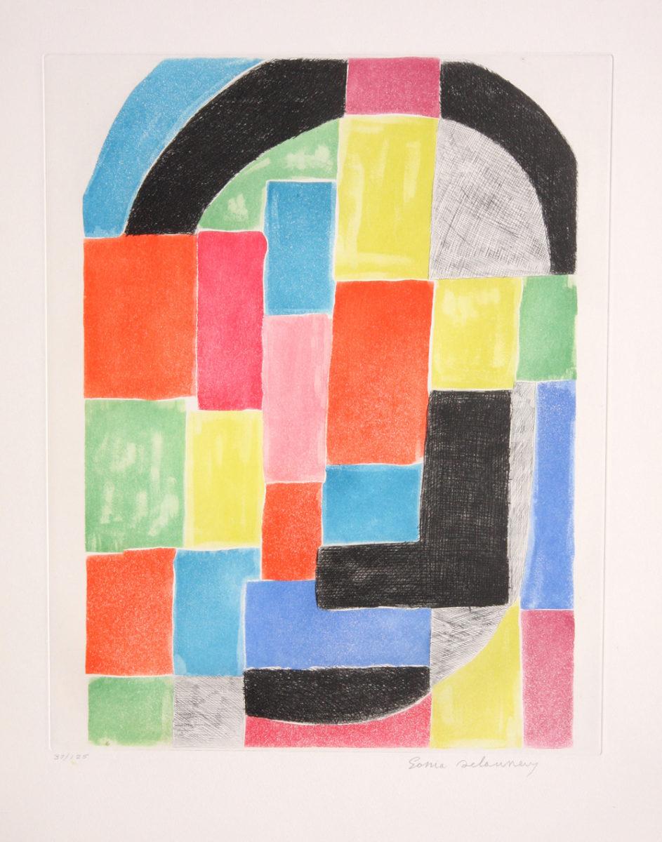 Sonia Delaunay Composition with Black Arc