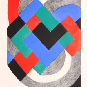 Sonia Delaunay Composition with White Arc