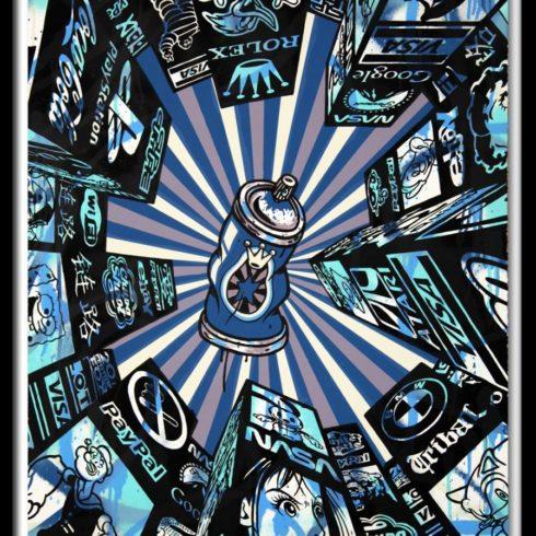 home street home (blue) by speedy graphito