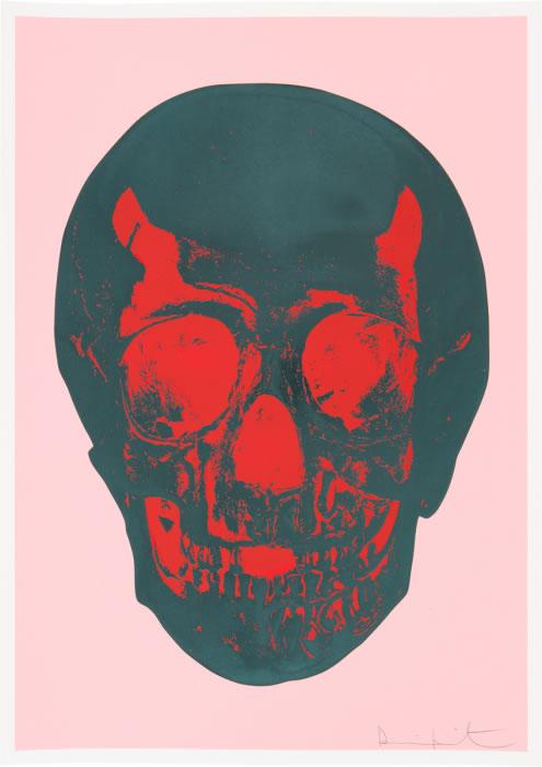 Damien Hirst Til Death Do Us Part Pink Green