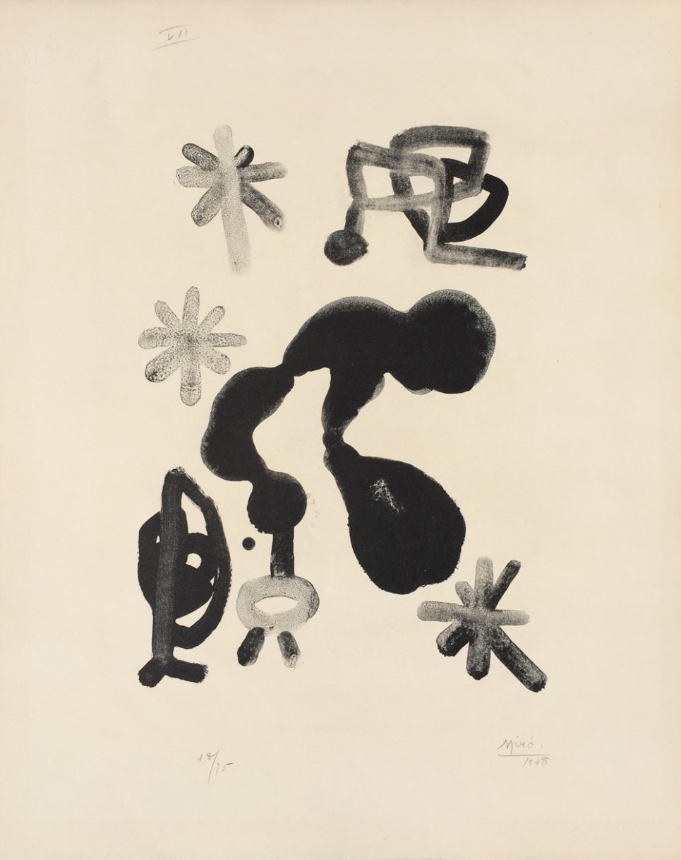 Album 13 Plate III by Joan Miro