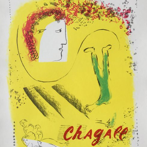 Marc Chagall Le Fond Jaune Galerie Maeght