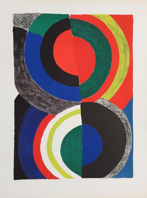 Sonia Delaunay Spiral Composition