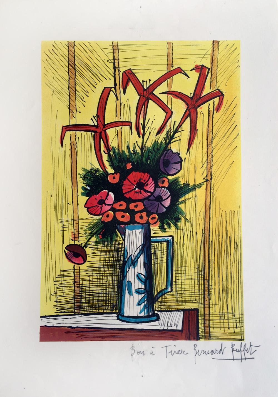 Bernard Buffet Flower Bouquet