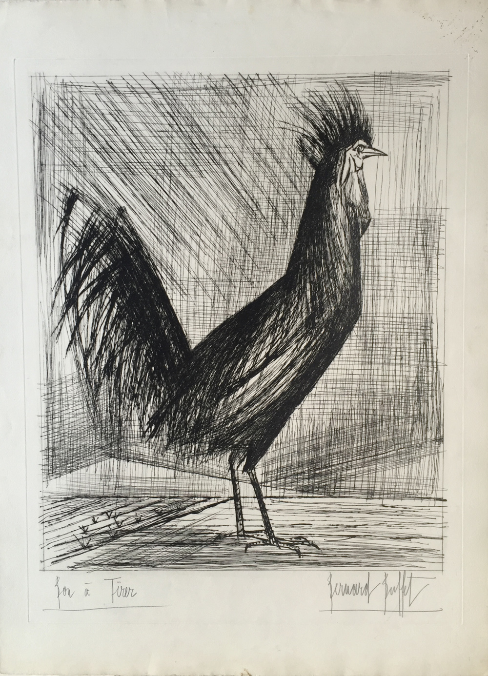 Stupendous Bernard Buffet Le Coq 1959 For Sale Denis Bloch Fine Art Download Free Architecture Designs Scobabritishbridgeorg