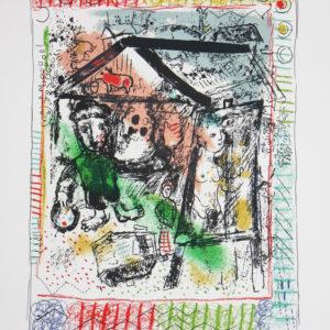 Marc Chagall Le Peintre devant le Village II