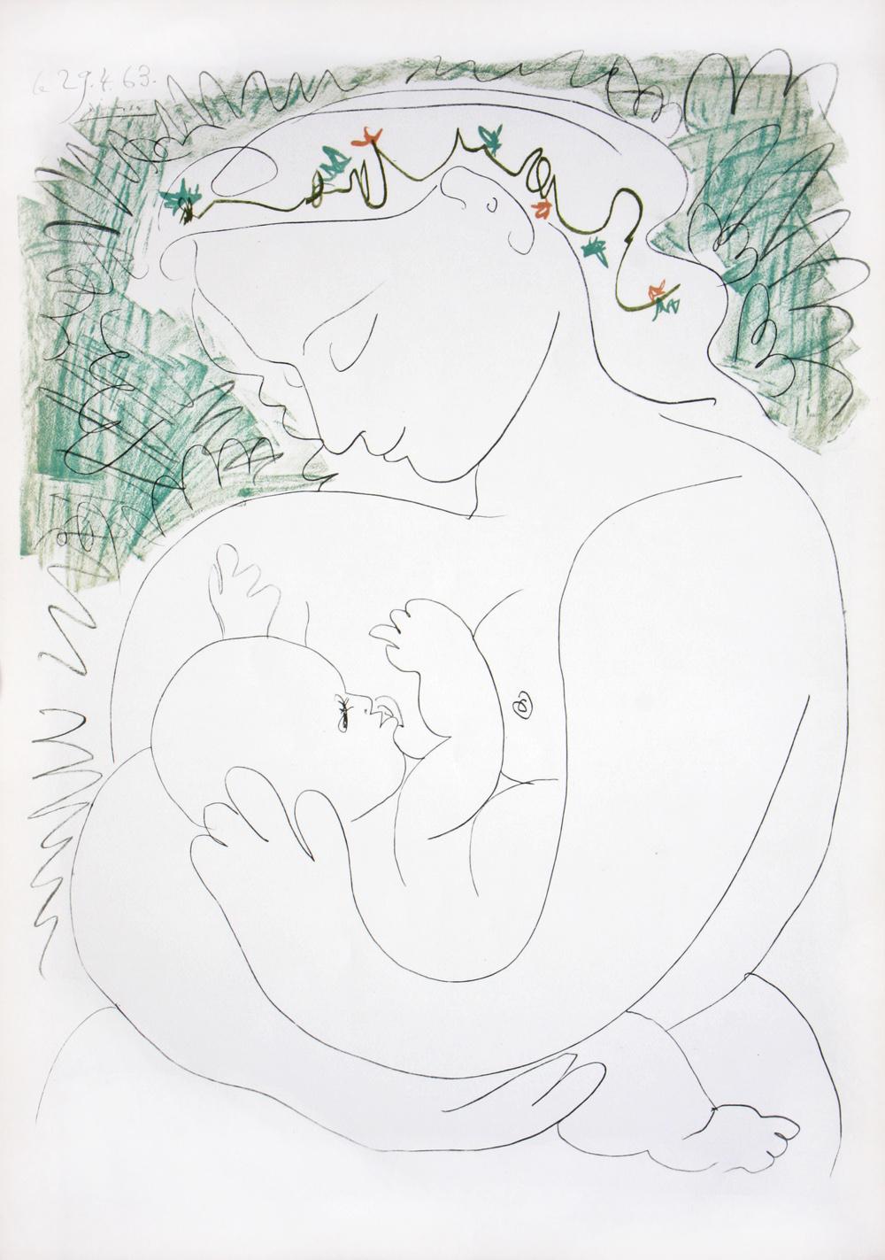 Pablo Picasso - Maternite - Lithograph