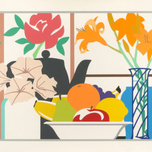 Tom Wesselmann Still Life with Petunias, Lillies and Fruit