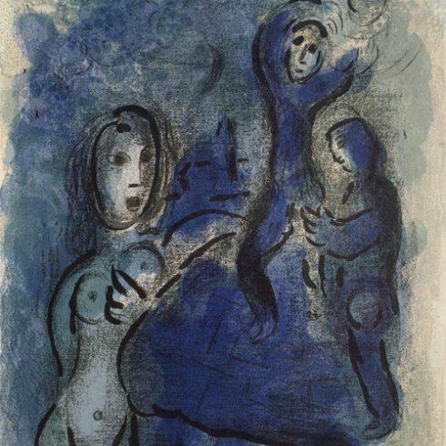 Marc Chagall - Bible: Rahab et les Espions de Jericho