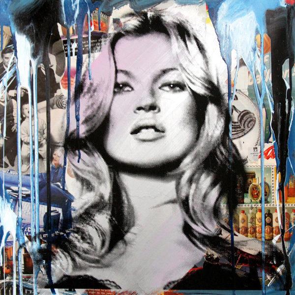 Mr. Brainwash Kate Moss (Blue)