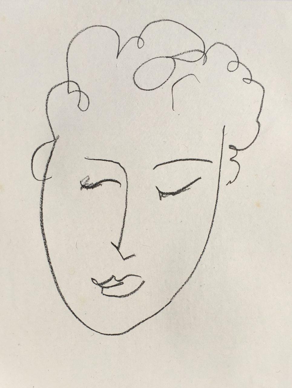 Henri Matisse - Jules Romains (from Pierres Levees)