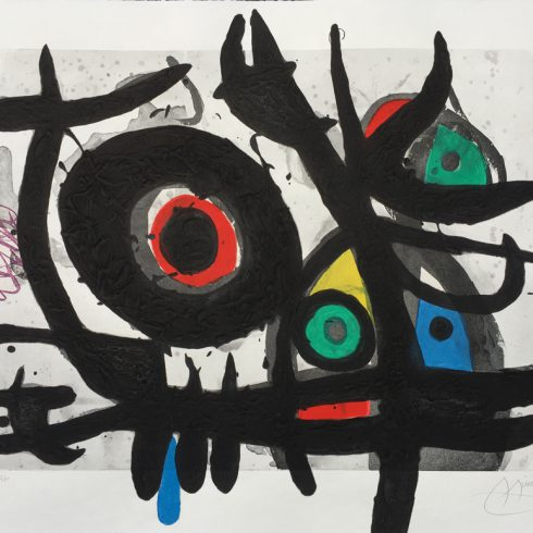 oiseau destructeur by joan miro