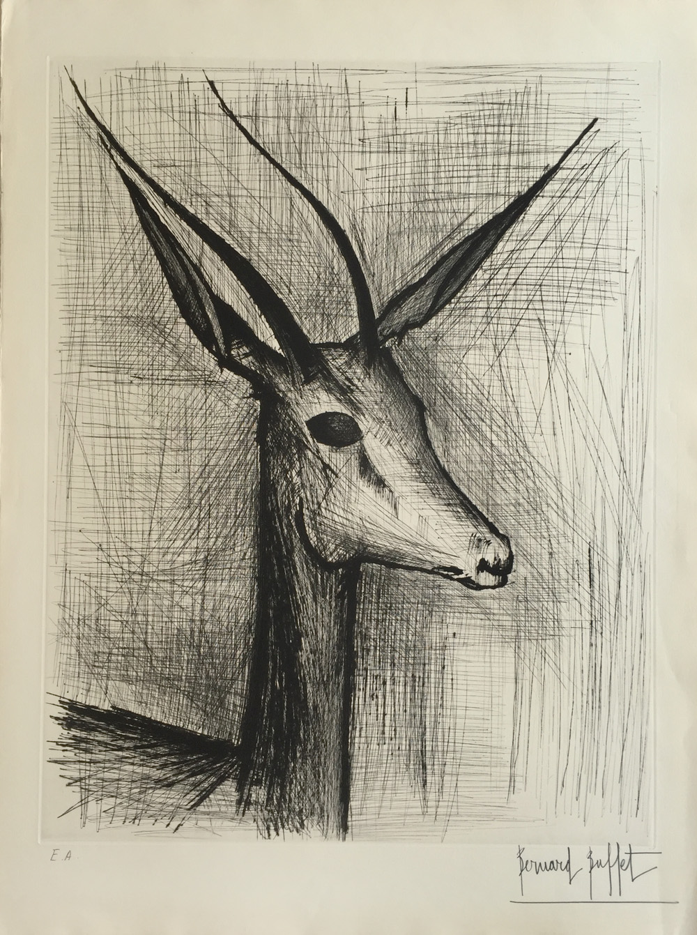 Sensational Bernard Buffet Gazelle For Sale Denis Bloch Fine Art Download Free Architecture Designs Scobabritishbridgeorg