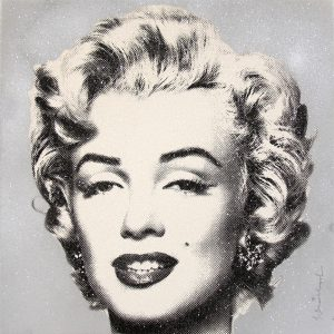Mr. Brainwash - Diamond Girl - Marilyn Monroe (Silver)