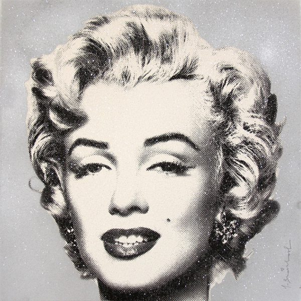Mr. Brainwash - Diamond Girl - Marilyn Monroe (Silver)