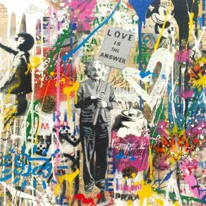 Mr. Brainwash - Einstein - Love is the Answer (22 x 22)
