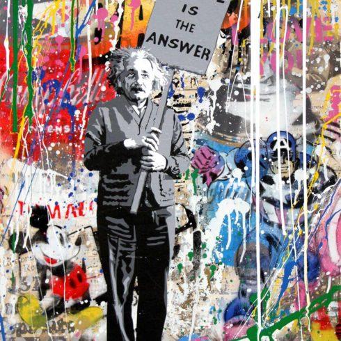 Mr. Brainwash - Einstein - Love is the Answer (30 x 22)