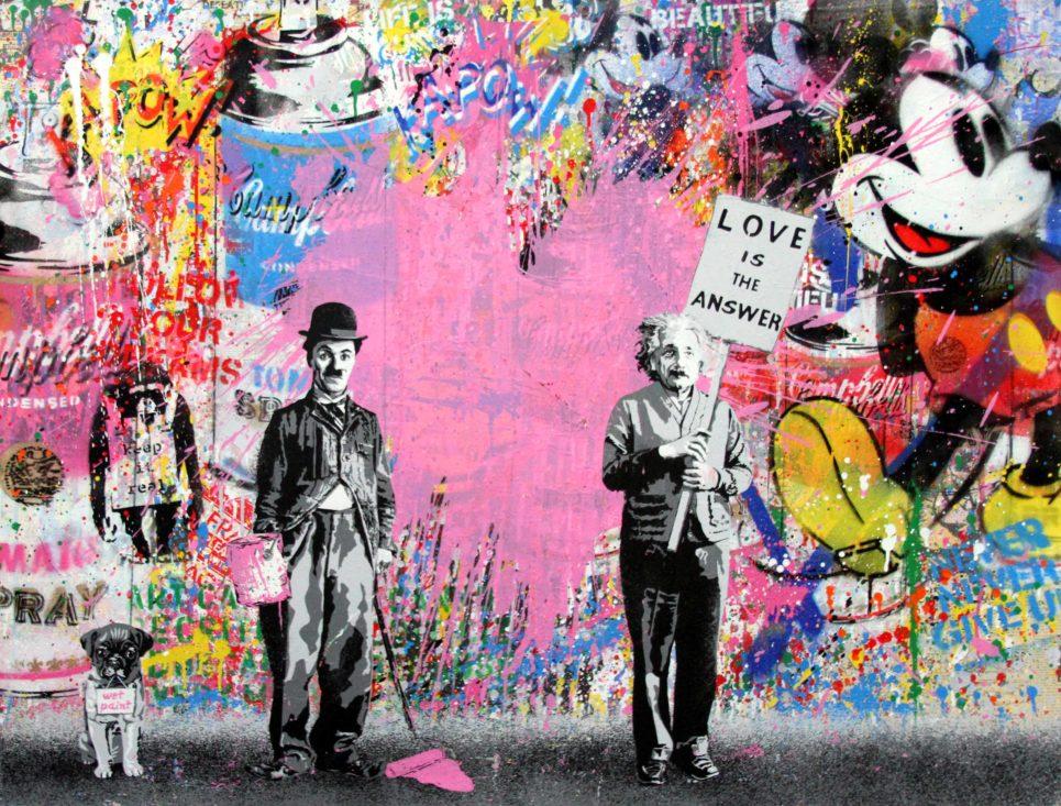 Mr. Brainwash - Juxtapose - Pink Heart