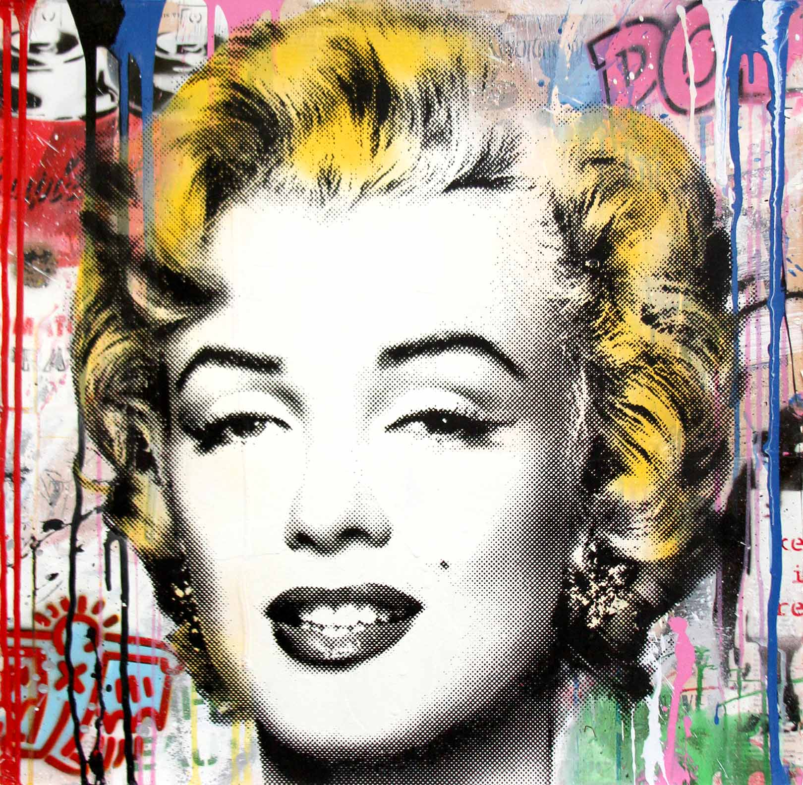 Mr. Brainwash - Marilyn (Mixed Media)