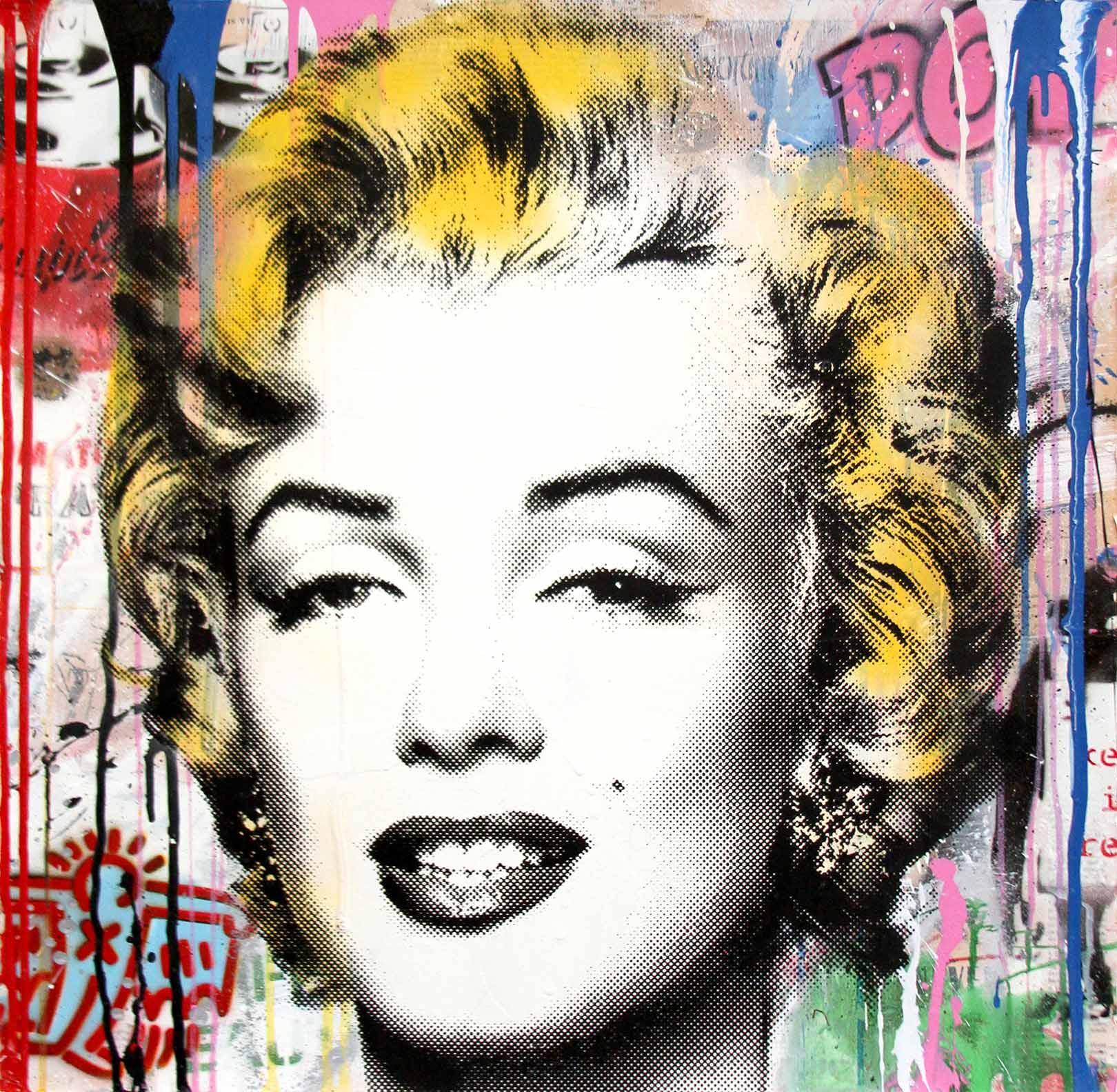 Mr. Brainwash - Marilyn (Mixed Media)