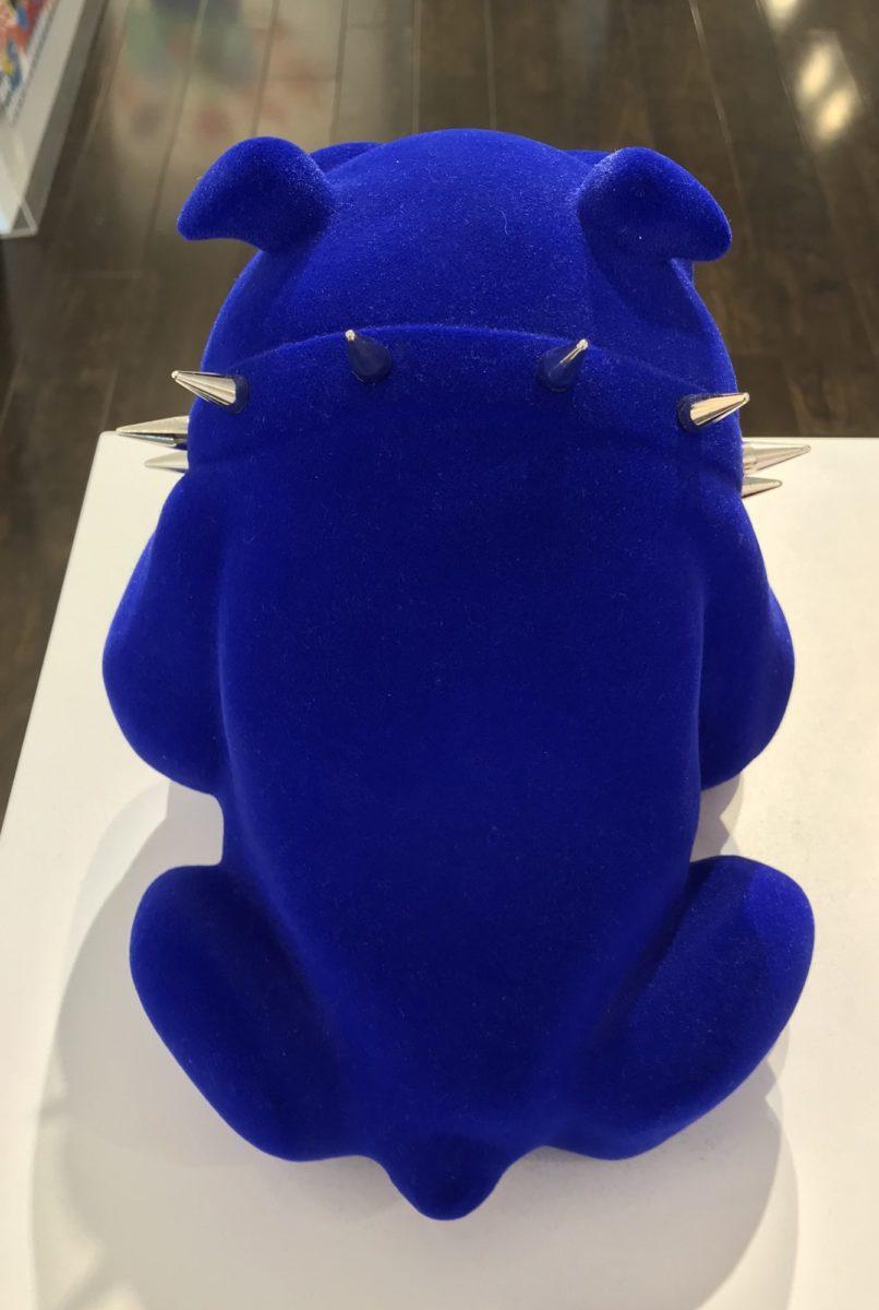 bulldog blue velvet backview by frederic avella