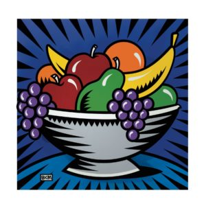 Fruitbowl Still Life by Burton Morris