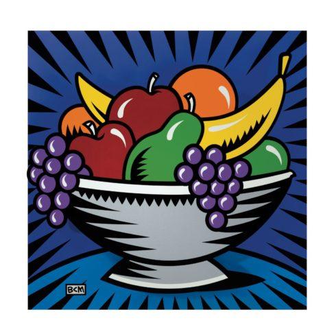 Fruitbowl Still Life by Burton Morris